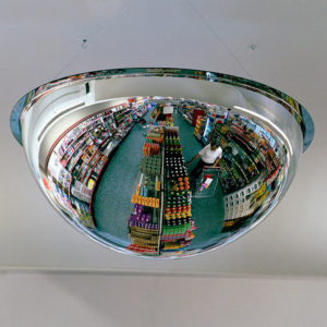 spejlkuppel i butik