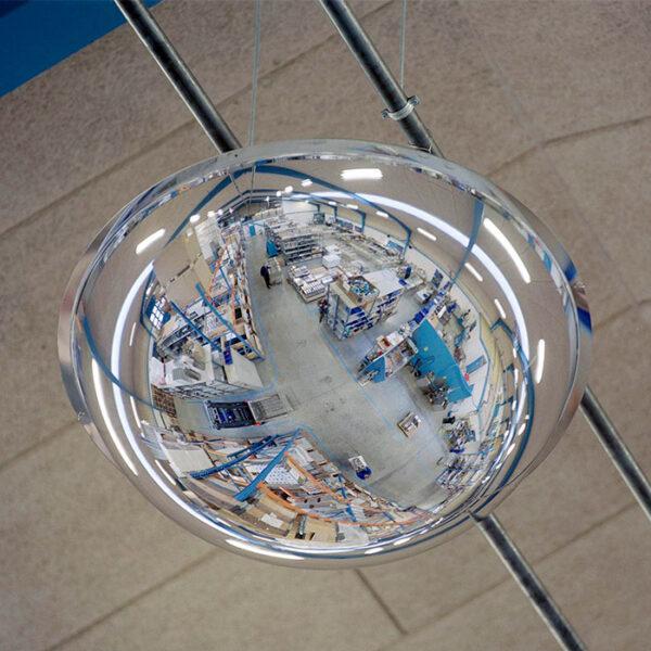 kuppelspejl set nedefra