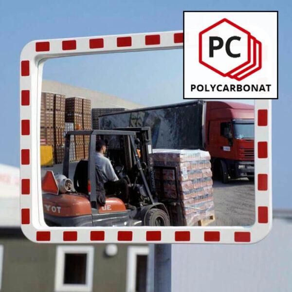 rektangelspejl af polycarbonat
