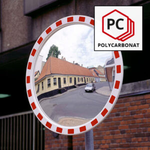 rundt spejl af polycarbonat
